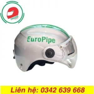 Mũ Bảo Hiểm Có Kính Quảng Cáo Thương Hiệu EuroPipe cao cấp