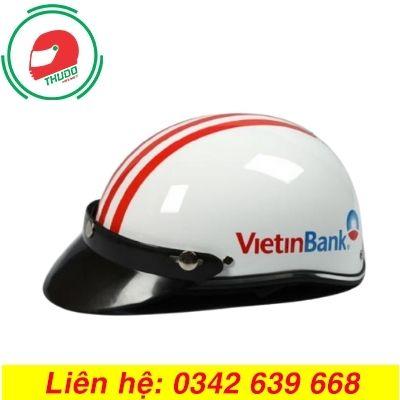 Mũ bảo hiểm quảng cáo thương hiệu ngân hàng Viettinbank đẹp