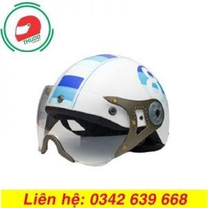 Mũ bảo hiểm có kính in logo số 8