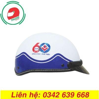 Mũ bảo hiểm in logo Kỷ niệm 60 năm ngân hàng BIDV