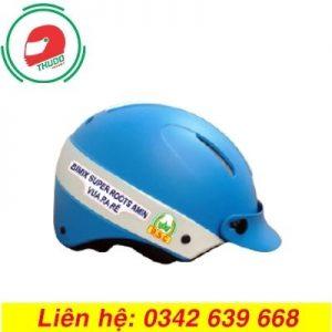 Mũ Bảo Hiểm Màu Xanh In logo Quảng Cáo Số 3