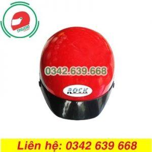 Mũ Bảo Hiểm Màu Đỏ In Logo Quảng Cáo Thương Hiệu Rock