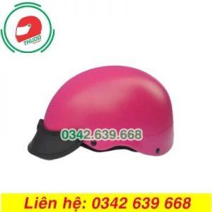 Mũ Bảo Hiểm Màu Hồng In logo Quảng Cáo Số 4