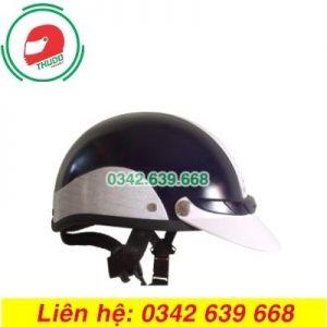 Mũ Bảo Hiểm Màu Đen In logo Quảng Cáo Số 5