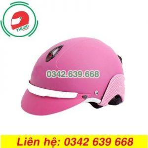 Mũ Bảo Hiểm Màu Hồng Mỏ Liền In logo Quảng Cáo Số 6