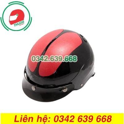 Mũ Bảo Hiểm Mỏ Rời Màu Đỏ Đen In logo theo yêu cầu