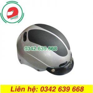 Mũ Bảo Hiểm Mỏ Rời Màu Đen Xám In logo theo yêu cầu