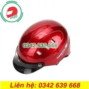 Mũ Bảo Hiểm Mỏ Rời Màu mận 6 lỗ In logo theo yêu cầu