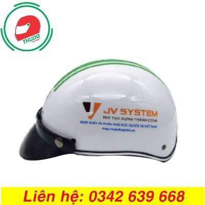 Mũ Bảo Hiểm Quảng Cáo Thương Hiệu JV SYSTEM