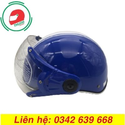 Mũ bảo hiểm có kính in logo số 1