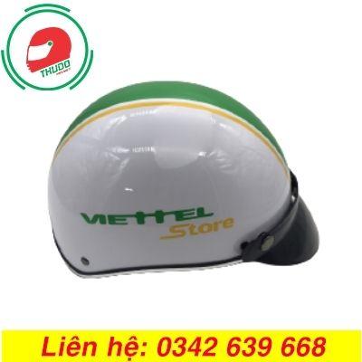 Mũ Bảo Hiểm Quảng Cáo Thương Hiệu ViettelStore