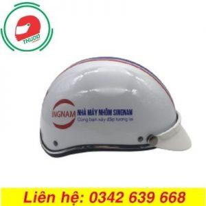 Mũ Bảo Hiểm Quảng Cáo Thương Hiệu Nhôm Singnam cao cấp