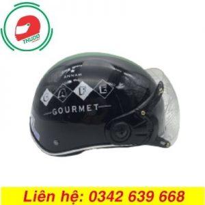 Mũ bảo hiểm in logo thương hiệu GrouHmet đẹp