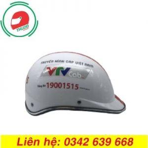 Mũ Bảo Hiểm Quảng Cáo Cho Thương Hiệu Truyền Hình Cáp Việt Nam VTV cab