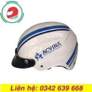 Mũ Bảo Hiểm Quảng Cáo Cho Thương Hiệu ACVINA đẹp
