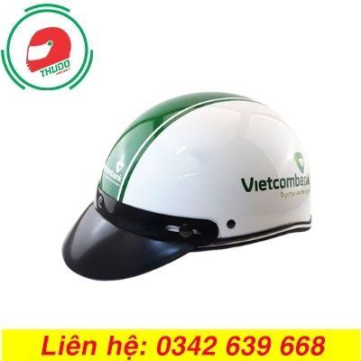 Mũ bảo hiểm quảng cáo thương hiệu ngân hàng Vietcombank giá rẻ