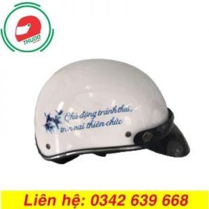 Mũ Bảo Hiểm Quảng Cáo Cho Thương Hiệu Thuốc Tránh Thai