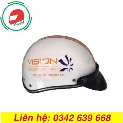 Mũ Bảo Hiểm Quảng Cáo Cho Thương Hiệu Máy Hàn VISION