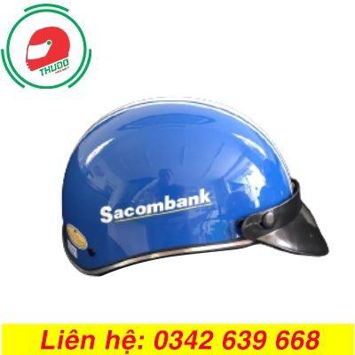 Mũ bảo hiểm quảng cáo thương hiệu ngân hàng SacomBank