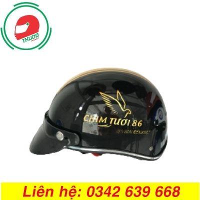 Mũ bảo hiểm quảng cáo thương hiệu Chim Tươi 86 giá rẻ