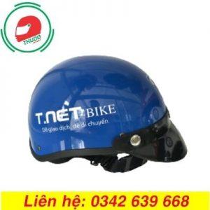 Mũ bảo hiểm quảng cáo thương hiệu T.NET Bike