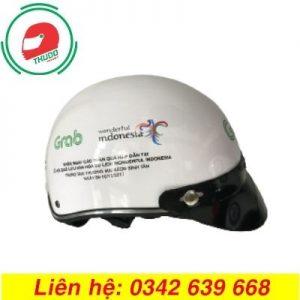 Mũ bảo hiểm quảng cáo thương hiệu Grab đẹp