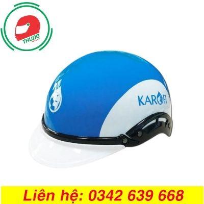 Mũ bảo hiểm quảng cáo thương hiệu Máy lọc nước Karofi