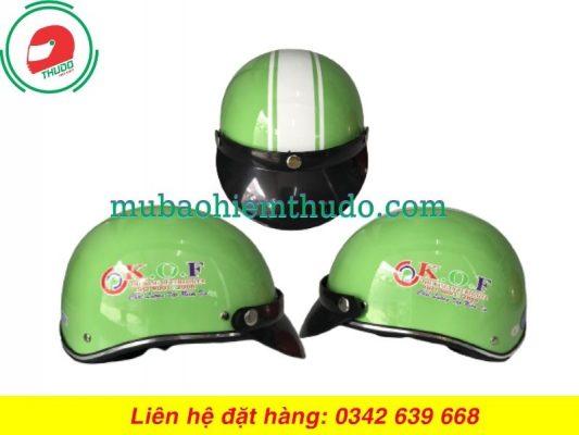 Mũ bảo hiểm quảng cáo thương hiệu K.O.F