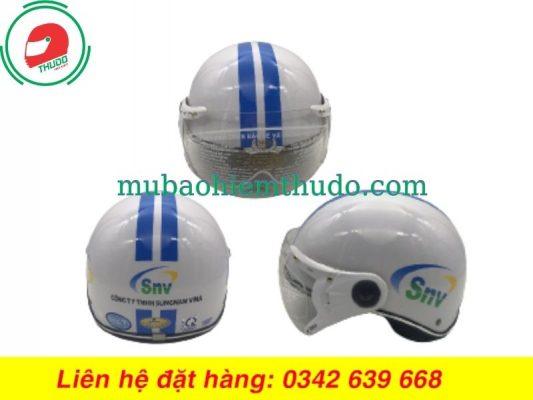 Mũ bảo hiểm quảng cáo thương hiệu SNV cao cấp