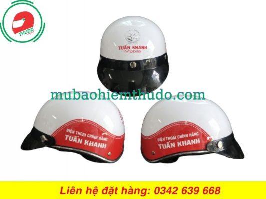Mũ bảo hiểm quảng cáo thương hiệu điện thoại chính hãng Tuấn Khanh
