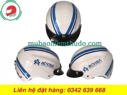 Mũ Bảo Hiểm Quảng Cáo Cho Thương Hiệu ACVINA