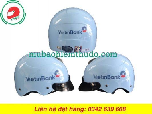 Mũ bảo hiểm quảng cáo thương hiệu ngân hàng ViettinBank