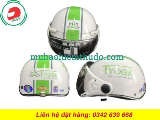 Mũ Bảo Hiểm Quảng Cáo Thương Hiệu Cho Phòng Tập YoGa đẹp