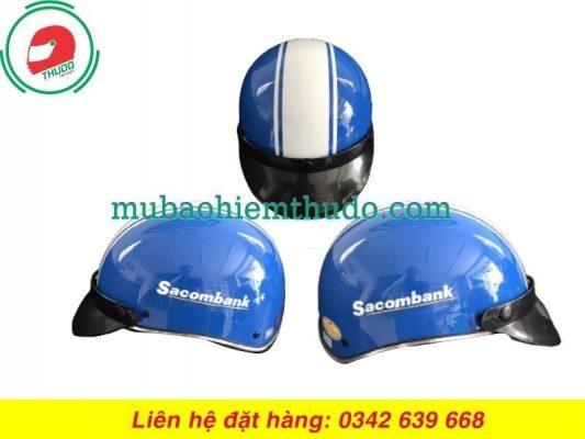Mũ bảo hiểm quảng cáo thương hiệu ngân hàng SacomBank rẻ đẹp