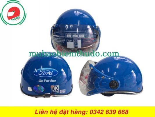 Mũ Bảo Hiểm Có Kính Quảng Cáo Thương Hiệu Xe Ford cao cấp
